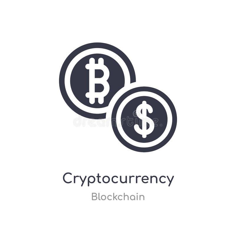 значок cryptocurrency изолированная иллюстрация вектора значка cryptocurrency от собрания blockchain editable спойте символ смоги иллюстрация вектора