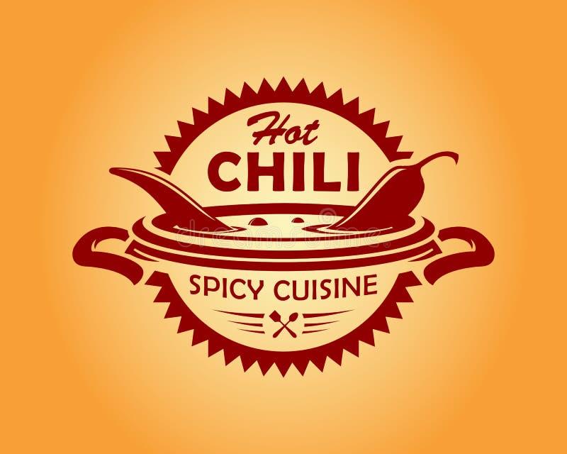 Значок cusine горячего chili пряный иллюстрация штока