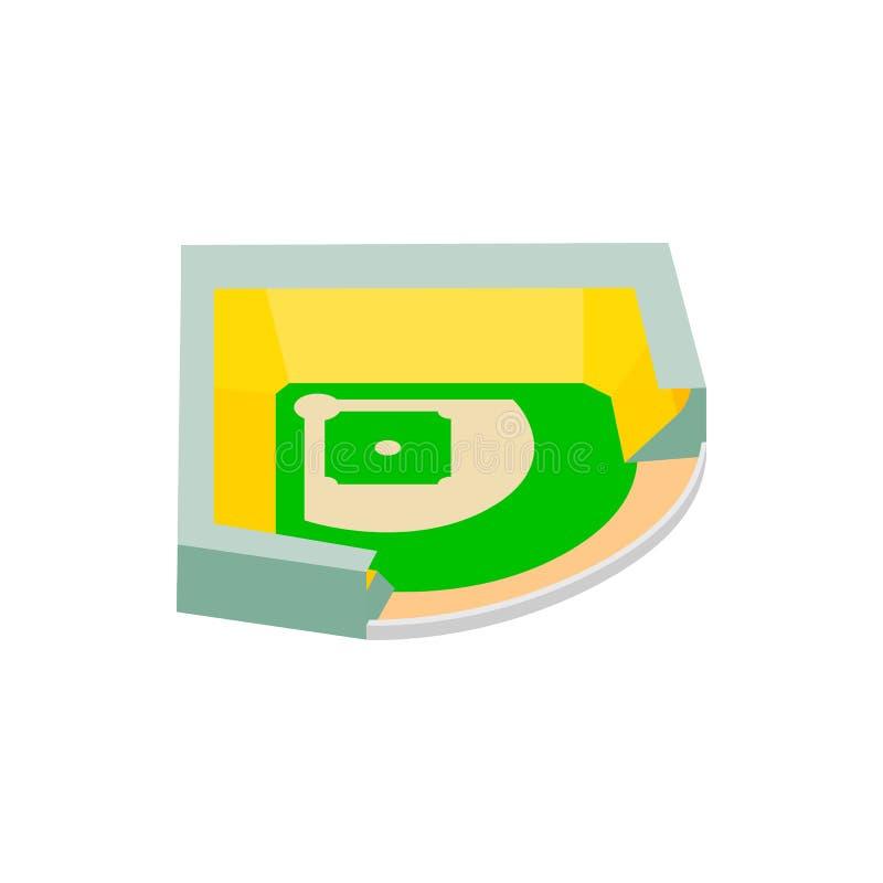 Значок 3d бейсбольного стадиона равновеликий иллюстрация вектора