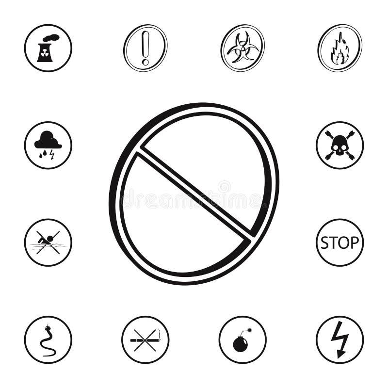 значок 3D запрещенный характером Детальный комплект значков предупредительных знаков Наградной качественный знак графического диз иллюстрация вектора