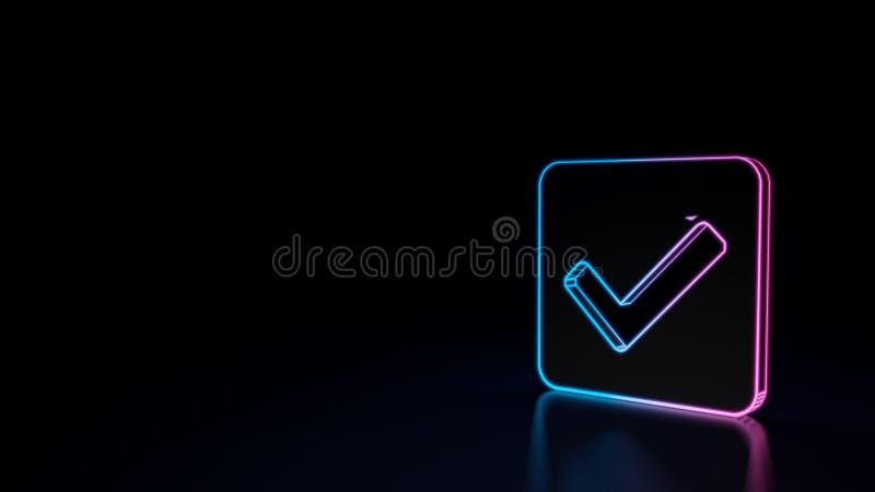 значок 3d квадрата проверки бесплатная иллюстрация