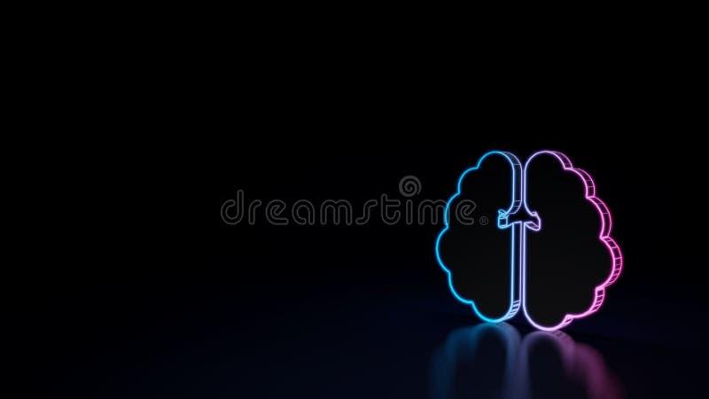 значок 3d мозга бесплатная иллюстрация