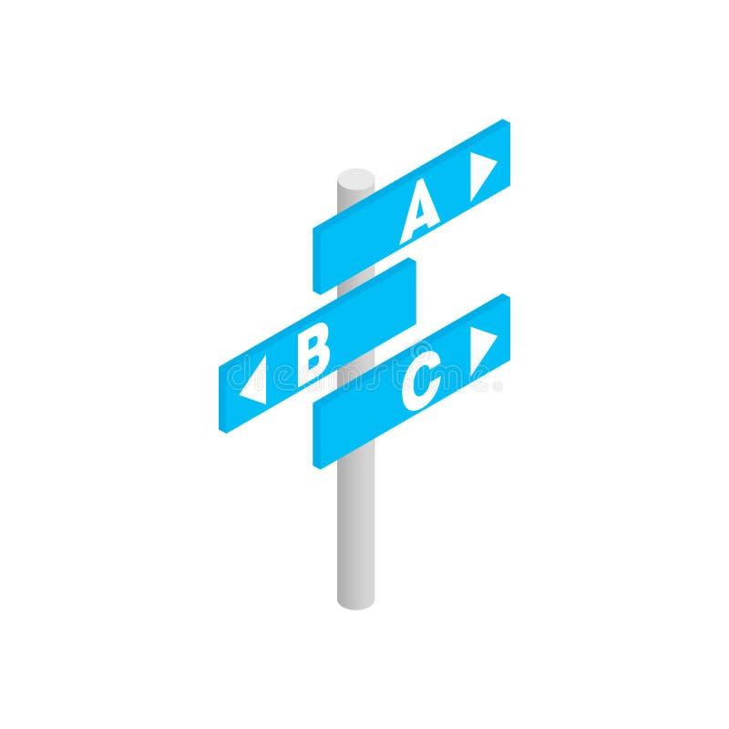 Значок 3d направления авиапорта равновеликий иллюстрация штока