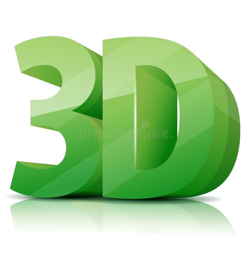 значок 3D иллюстрация штока