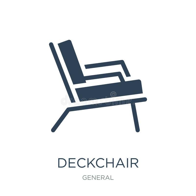 значок deckchair в ультрамодном стиле дизайна значок deckchair изолированный на белой предпосылке квартира значка вектора deckcha иллюстрация штока
