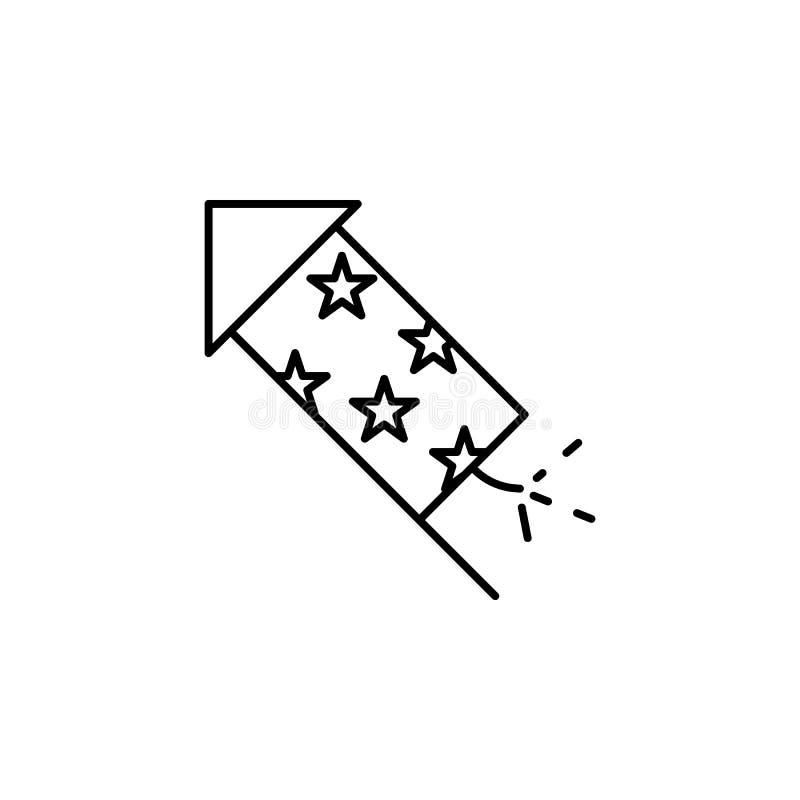 Значок Diwali фейерверка на белой предпосылке Элементы фестиваля Diwali индусские для графика и веб-дизайн на белой предпосылке бесплатная иллюстрация