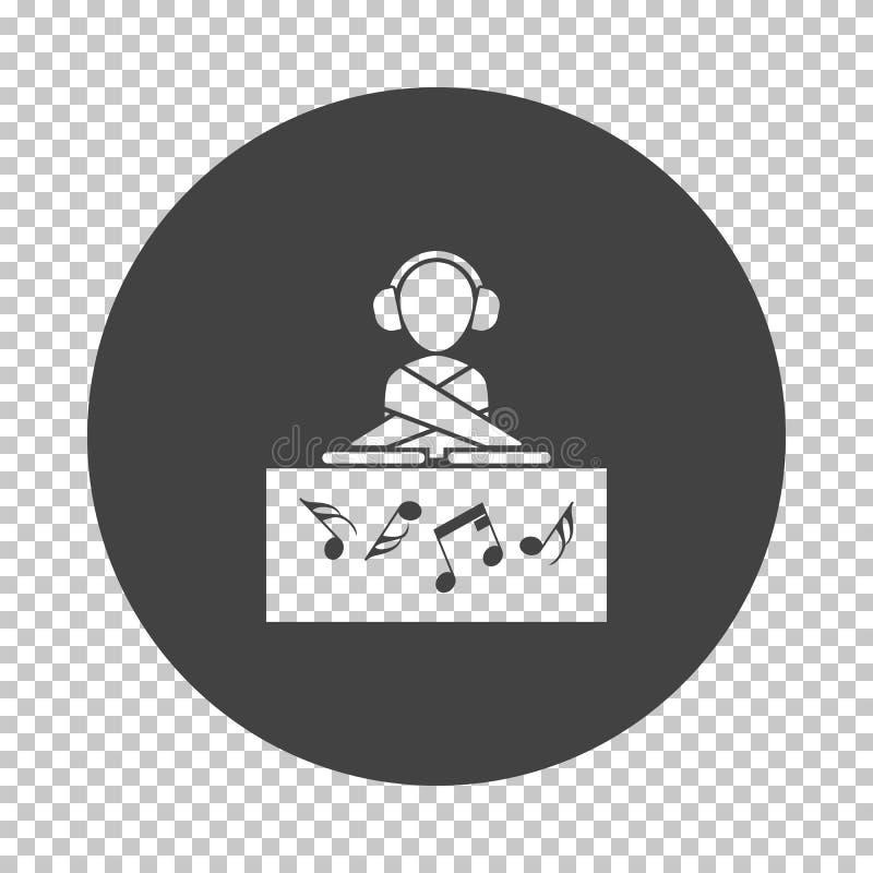 Значок DJ ночного клуба иллюстрация штока