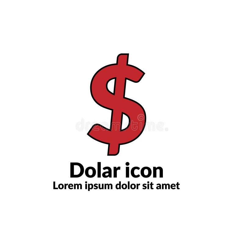 Значок Dolar Значок цвета стоковая фотография rf
