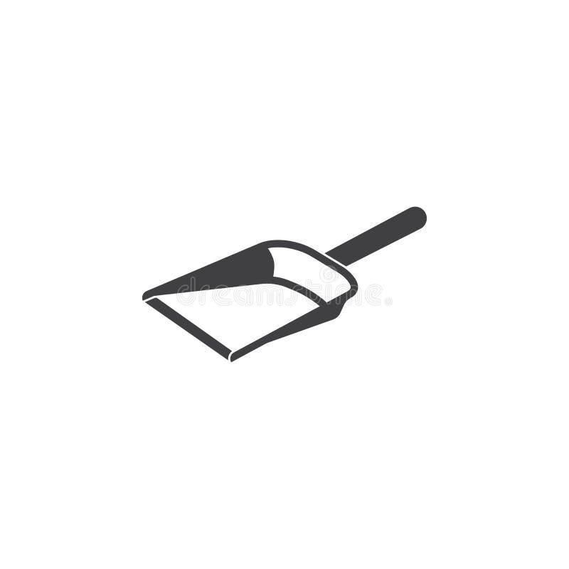 Значок Dustpan на белизне иллюстрация вектора