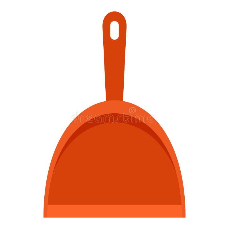 Значок Dustpan, плоский стиль иллюстрация штока