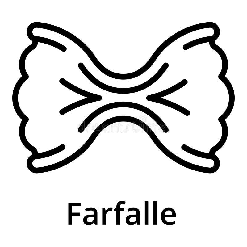 Значок Farfalle, стиль плана бесплатная иллюстрация
