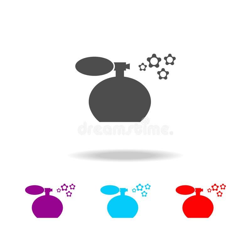 Значок flavoring Элементы ванной комнаты в multi покрашенных значках Наградной качественный значок графического дизайна Простой з иллюстрация вектора