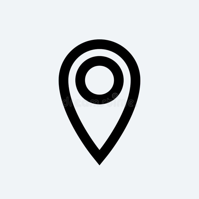 Значок GPS вектора плана штыря положения бесплатная иллюстрация