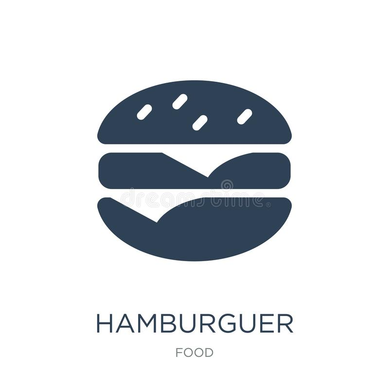 значок hamburguer в ультрамодном стиле дизайна значок hamburguer изолированный на белой предпосылке значок вектора hamburguer про иллюстрация вектора