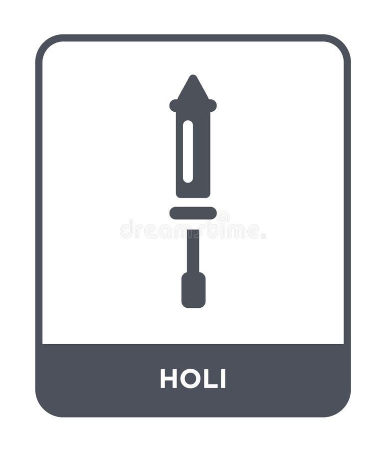 значок holi в ультрамодном стиле дизайна значок holi изолированный на белой предпосылке символ значка вектора holi простой и совр бесплатная иллюстрация