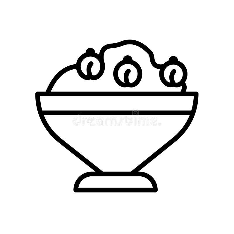 значок hummus изолированный на белой предпосылке иллюстрация штока