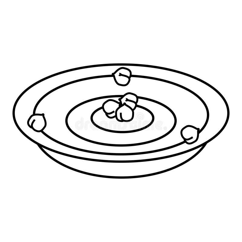 Значок hummus нутов, иллюстрация вектора иллюстрация вектора