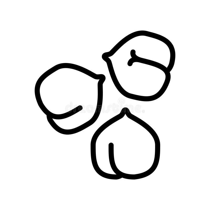 Значок hummus нутов, иллюстрация вектора иллюстрация штока