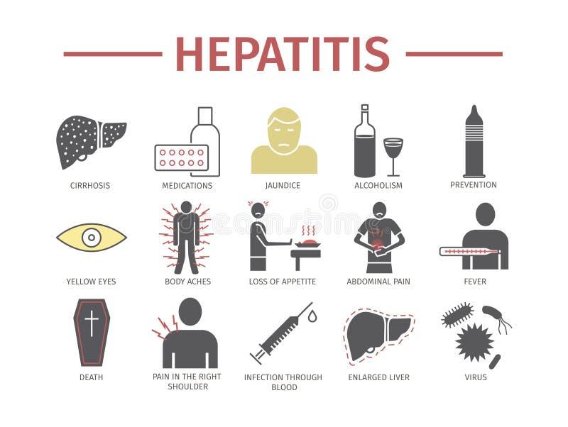 Значок Infographics гепатита плоский Знаки для графиков сети иллюстрация штока