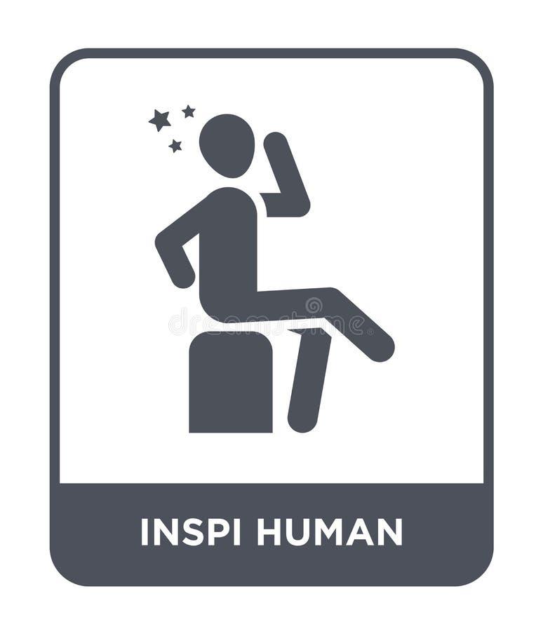 значок inspi человеческий в ультрамодном стиле дизайна значок inspi человеческий изолированный на белой предпосылке значок вектор иллюстрация вектора