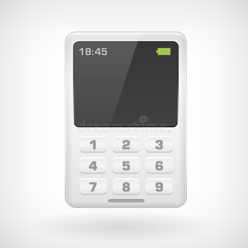 Значок isollated мобильным телефоном иллюстрация штока