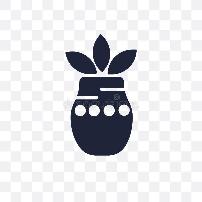 Значок kalash Kumbh прозрачный Дизайн символа kalash Kumbh от I иллюстрация штока