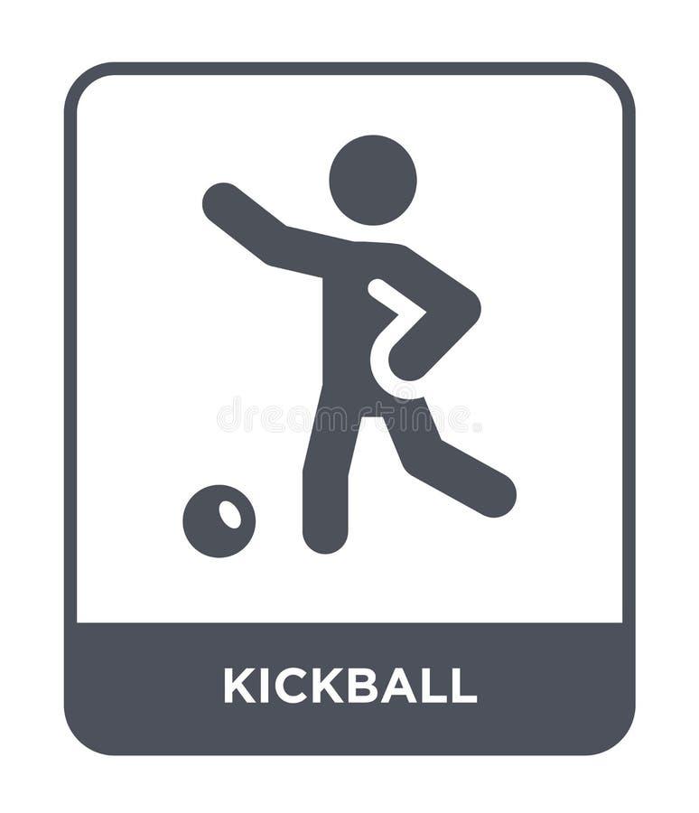 значок kickball в ультрамодном стиле дизайна значок kickball изолированный на белой предпосылке квартира значка вектора kickball  бесплатная иллюстрация