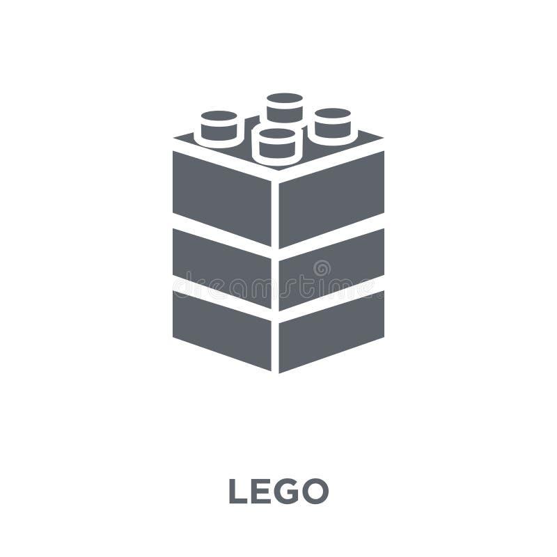 Значок Lego от собрания развлечений иллюстрация штока