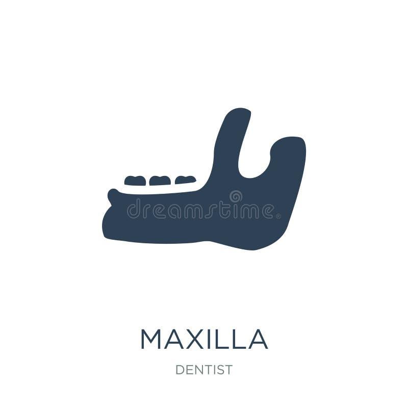 значок maxilla в ультрамодном стиле дизайна значок maxilla изолированный на белой предпосылке символ значка вектора maxilla прост иллюстрация вектора