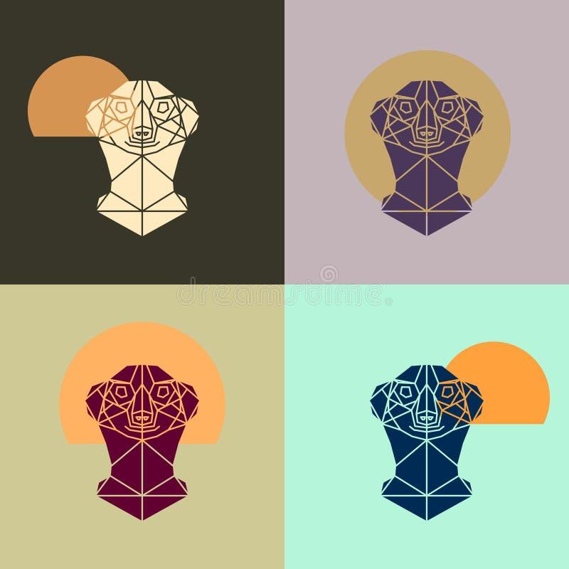 Значок Meerkat головной триангулярный иллюстрация штока