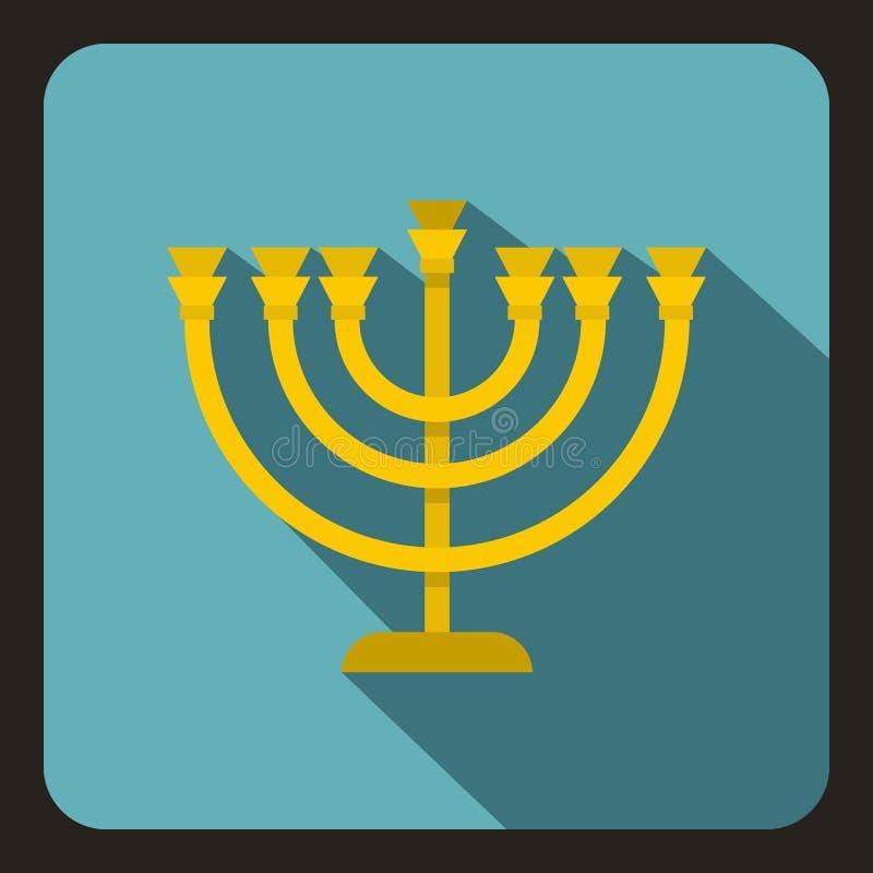 Значок Menorah в плоском стиле бесплатная иллюстрация