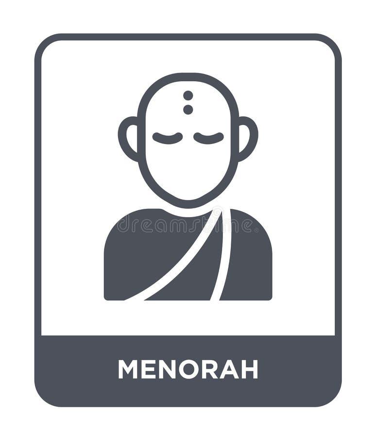 значок menorah в ультрамодном стиле дизайна Значок Menorah изолированный на белой предпосылке символ значка вектора menorah прост иллюстрация вектора