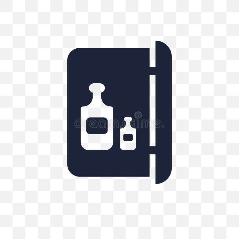 Значок Minibar прозрачный Дизайн символа Minibar от colle гостиницы бесплатная иллюстрация
