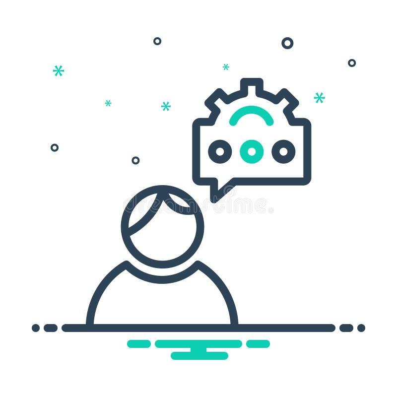 Значок Mix для Seo Consulting, коммуникации и блога иллюстрация вектора