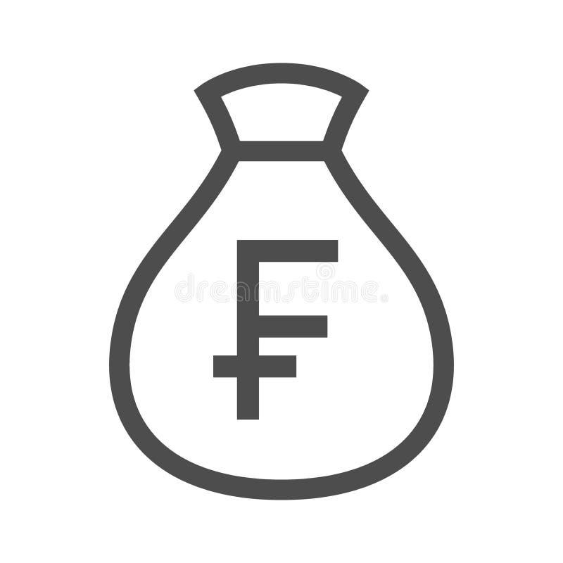Значок moneybag швейцарского франка бесплатная иллюстрация