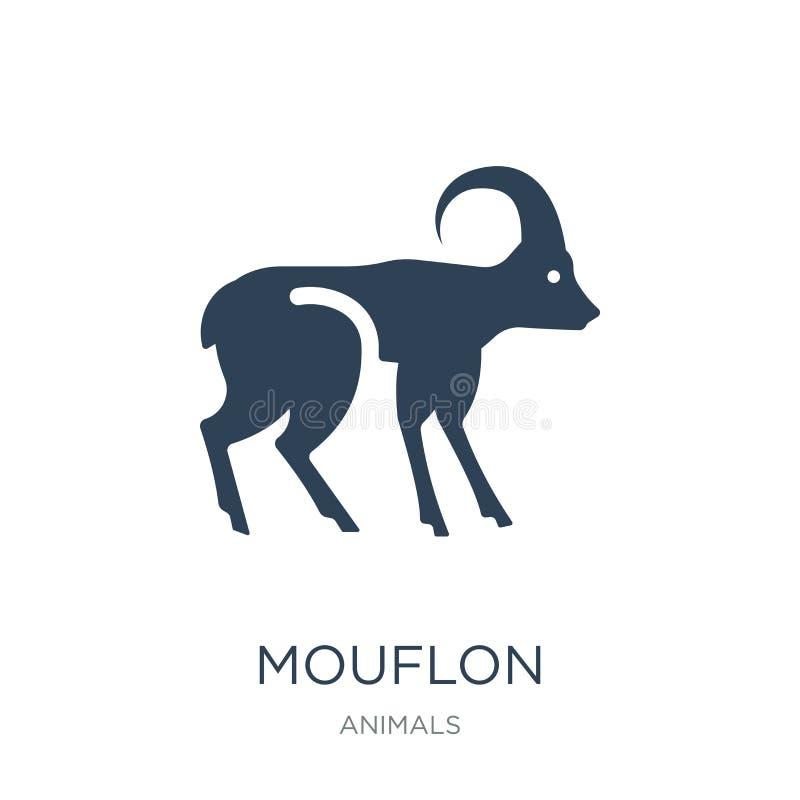 значок mouflon в ультрамодном стиле дизайна значок mouflon изолированный на белой предпосылке символ значка вектора mouflon прост иллюстрация вектора