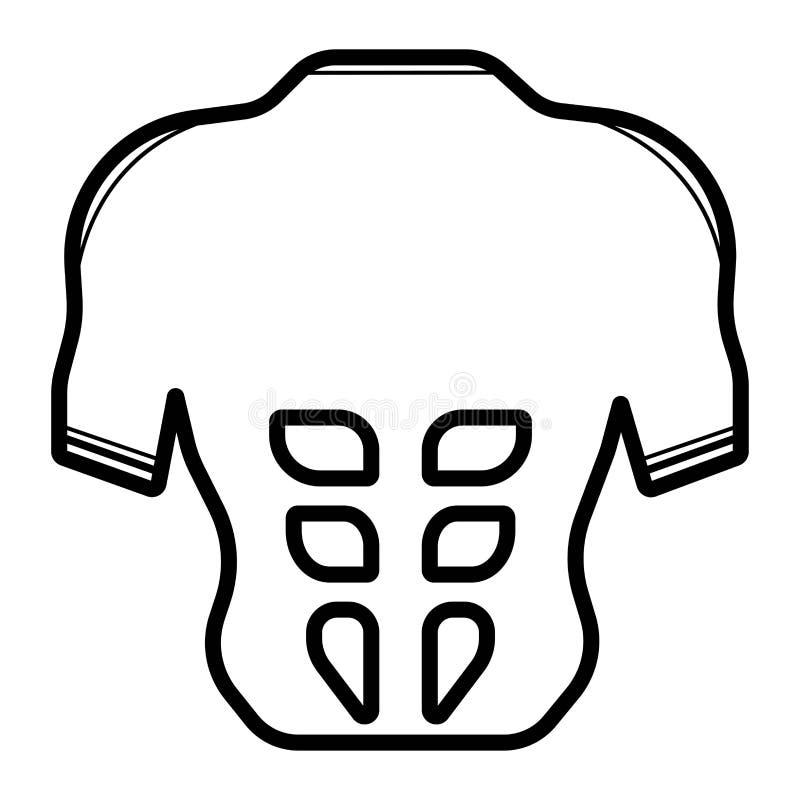 Значок muscules Abs иллюстрация вектора