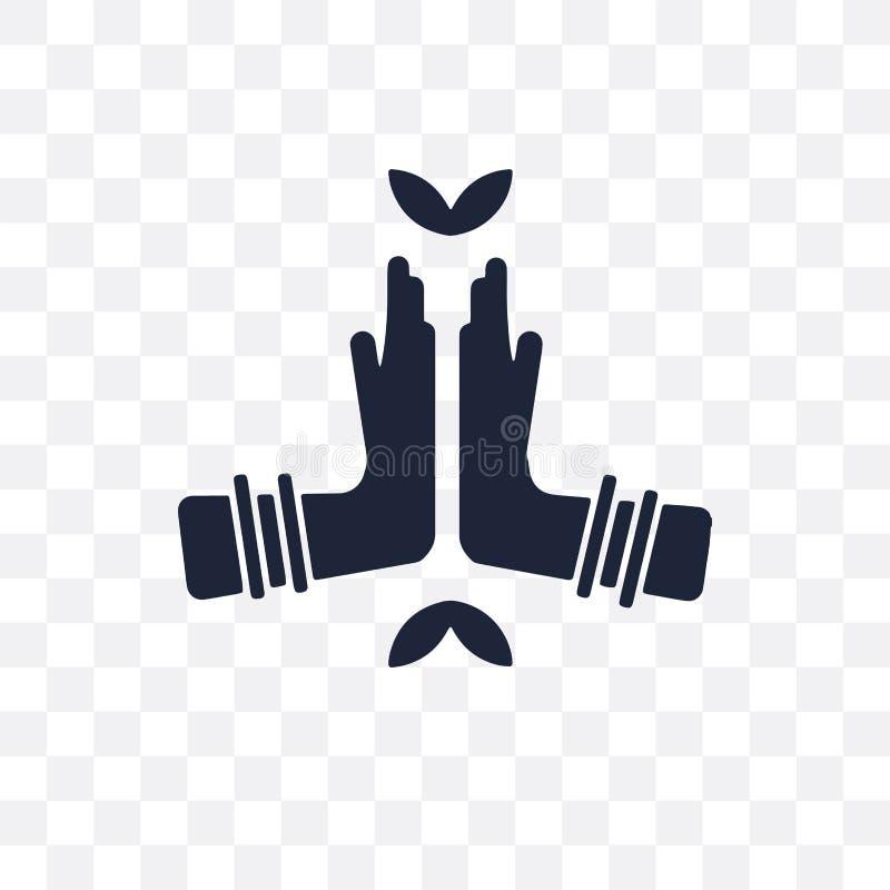 Значок Namaste прозрачный Дизайн символа Namaste от colle Индии иллюстрация вектора