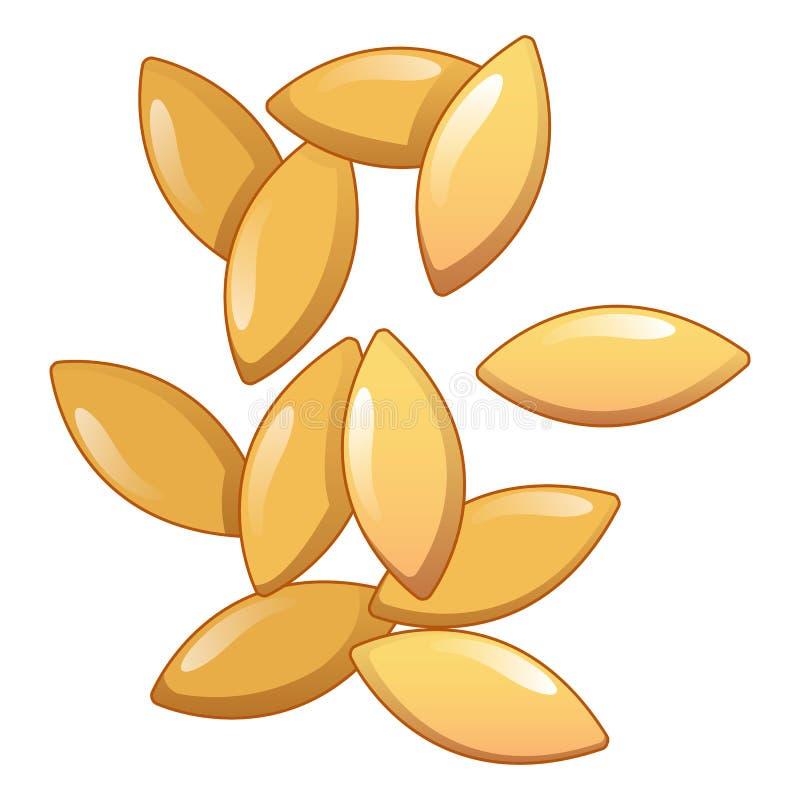 Значок Orzo, стиль шаржа иллюстрация вектора