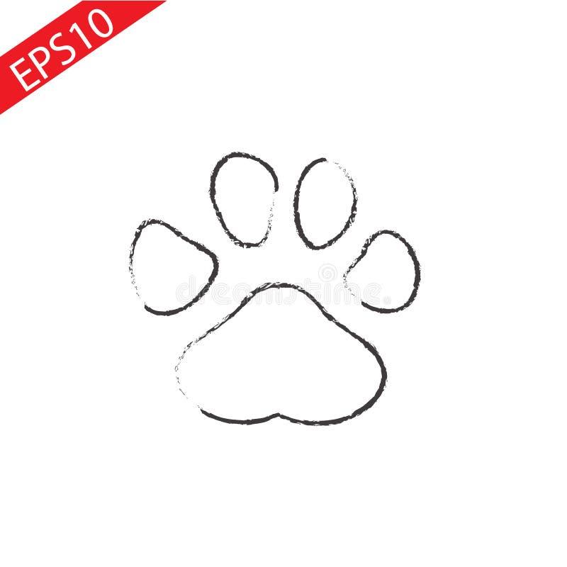 Значок 'Paw Print' Вектор иллюстрация вектора