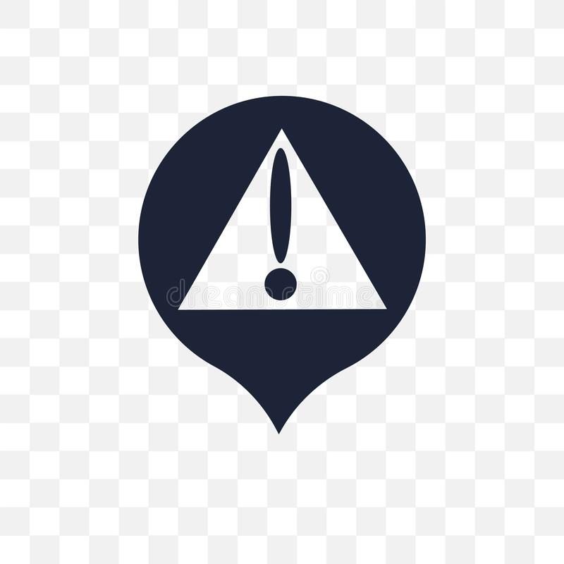Значок Pin предупредительного знака прозрачный Desig символа Pin предупредительного знака иллюстрация штока
