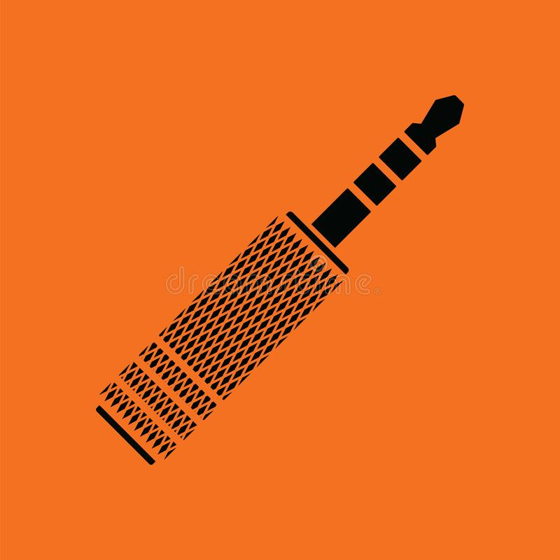 Значок plug-in jack музыки бесплатная иллюстрация