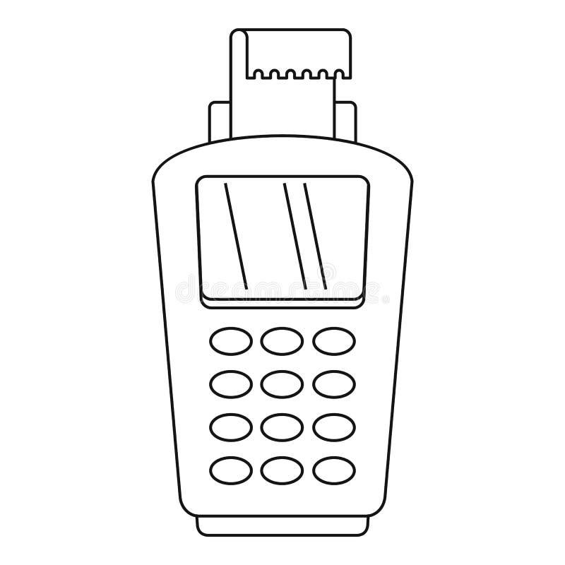 Значок Pos терминальный, стиль плана бесплатная иллюстрация