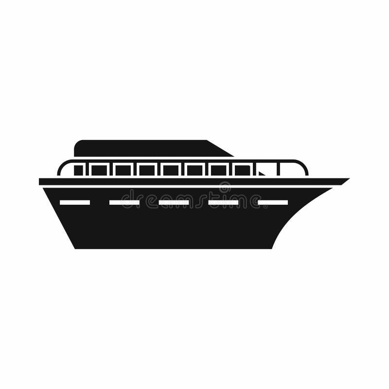 Значок Powerboat, простой стиль бесплатная иллюстрация