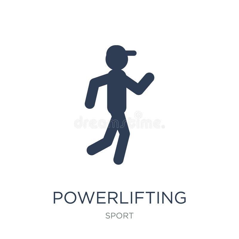 Значок Powerlifting Значок ультрамодного плоского вектора powerlifting на белизне иллюстрация штока