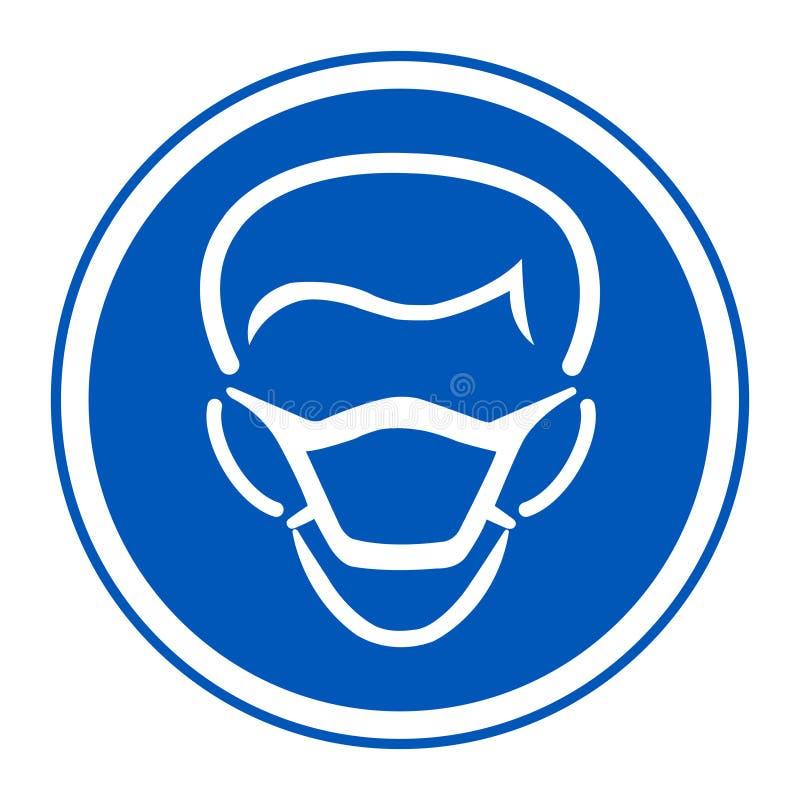 Значок PPE Изолят знака символа маски носки на белой предпосылке, иллюстрации EPS вектора 10 иллюстрация вектора