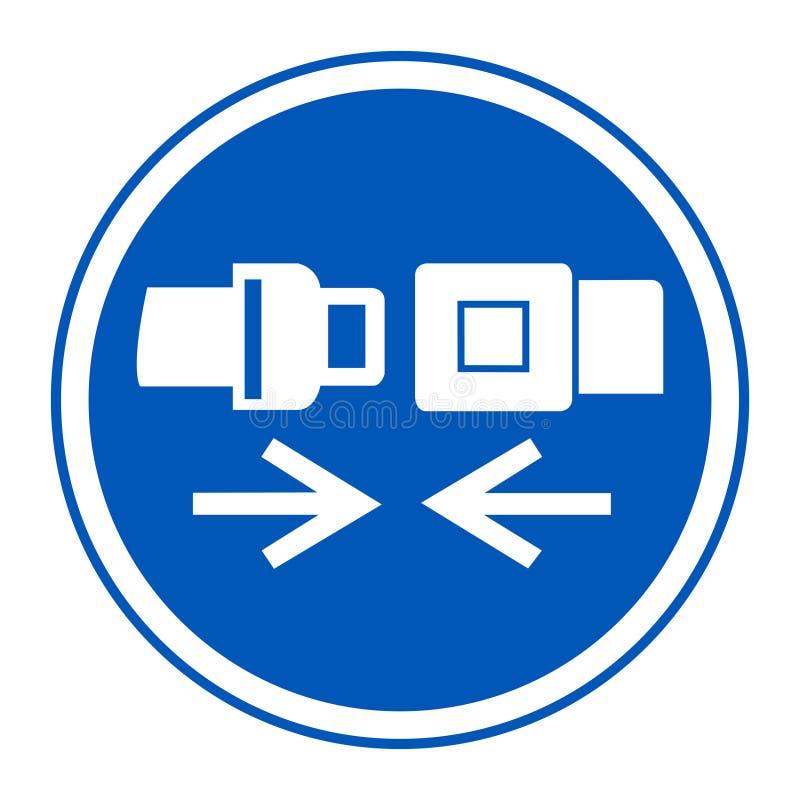 Значок PPE Изолят знака символа ремня безопасности носки на белой предпосылке, иллюстрации EPS вектора 10 иллюстрация штока