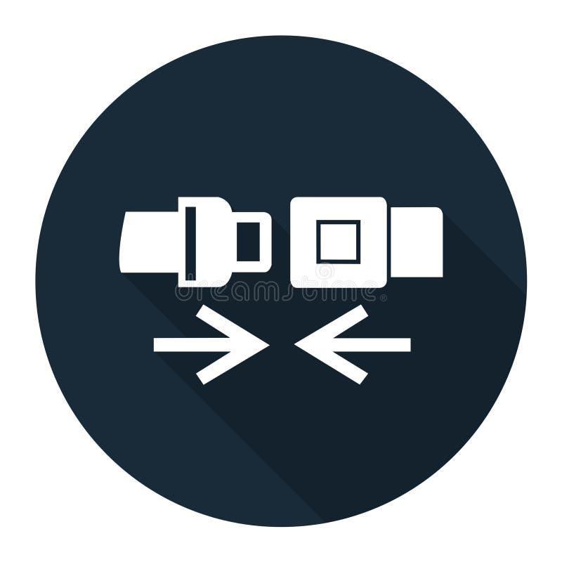 Значок PPE Изолят знака символа ремня безопасности носки на белой предпосылке, иллюстрации EPS вектора 10 иллюстрация вектора