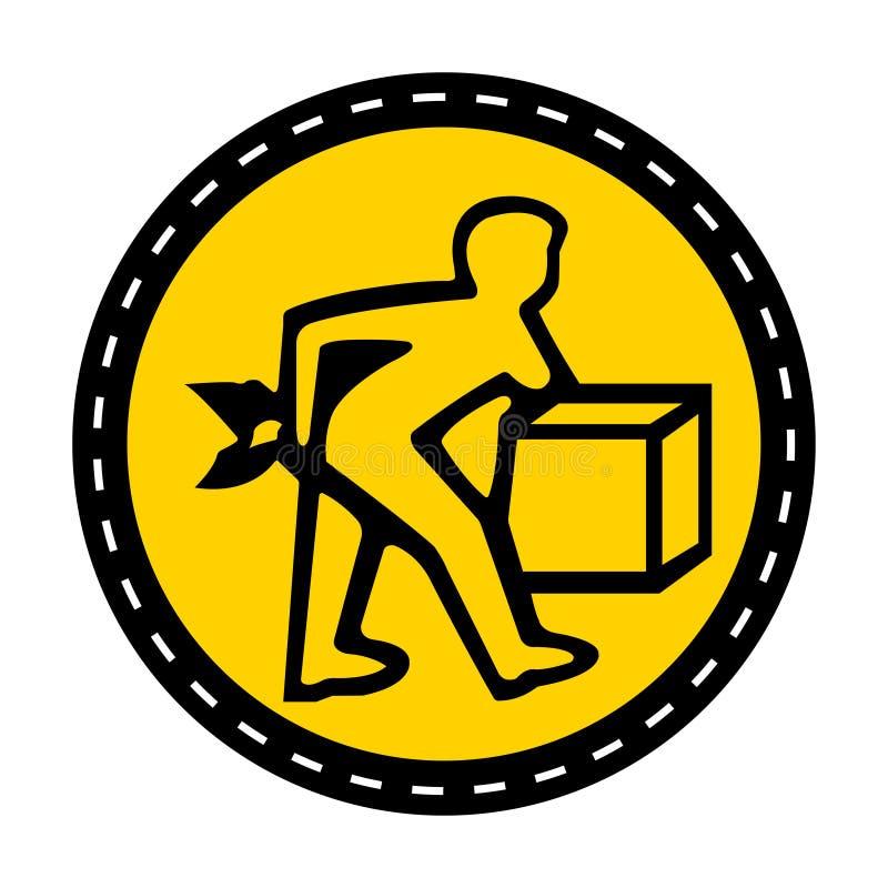 Значок PPE Поднимите правильно изолят знака символа на белой предпосылке, иллюстрации вектора бесплатная иллюстрация