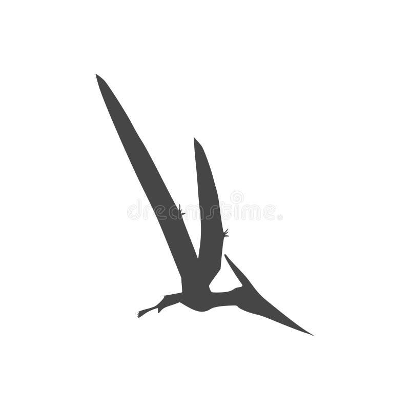 Значок Pterodactyl, чертеж вектора, птица Pteranodon иллюстрация вектора